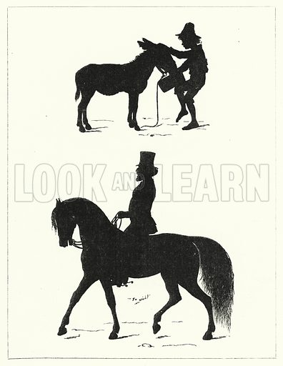 Silhouettes. Illustration for The Infant's Magazine (1876).