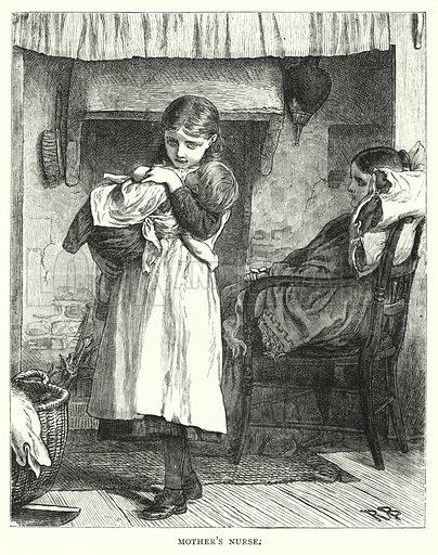 Mother's Nurse. Illustration for The Infant's Magazine (1877).