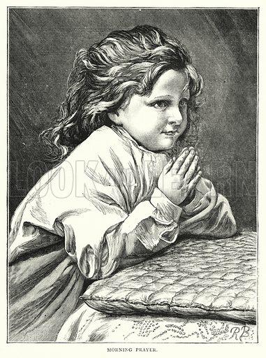 Morning Prayer. Illustration for The Infant's Magazine (1877).