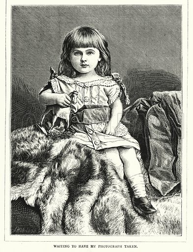 Waiting to have my Photograph taken. Illustration for The Infant's Magazine (1877).
