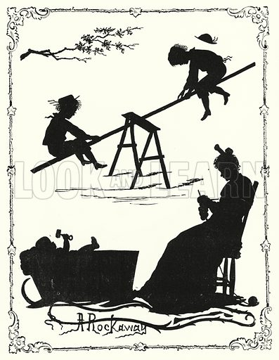 Silhouettes. Illustration for The Infant's Magazine (1877).