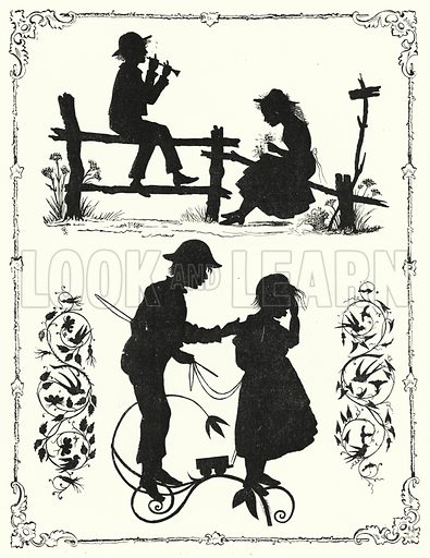 Silhouettes. Illustration for The Infant