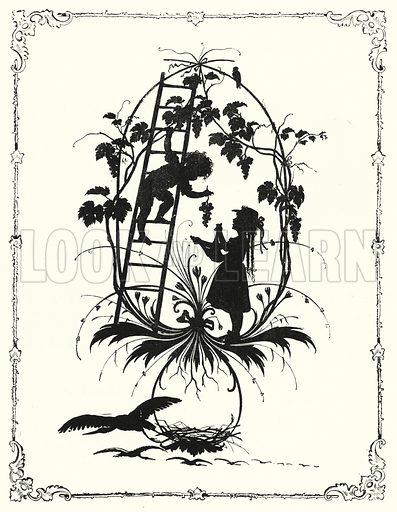 Silhouette. Illustration for The Infant's Magazine (1877).