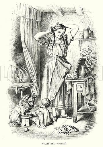 "Willie and ""Fritz."" Illustration for The Infant's Magazine (1877)."