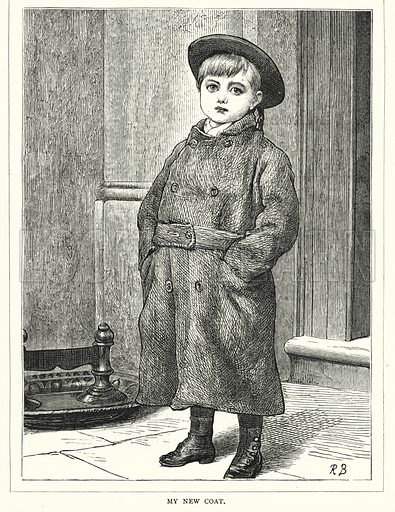 My New Coat. Illustration for The Infant's Magazine (1877).