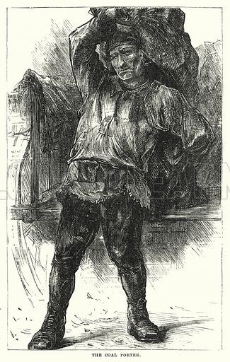 The Coal Porter. Illustration for The Infant's Magazine (1877).