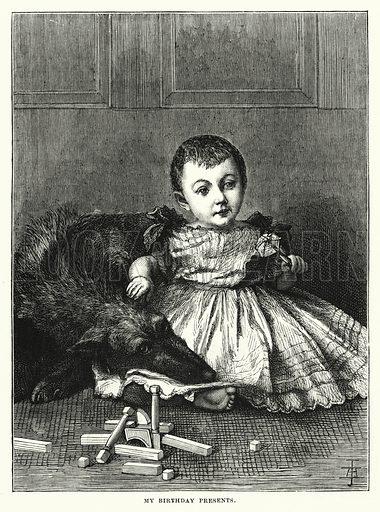 My Birthday Presents. Illustration for The Infant's Magazine (1878).