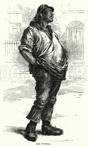 The Dustman. Illustration for The Infant's Magazine (1878).