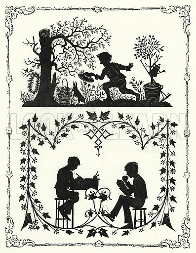 Silhouette. Illustration for The Infant's Magazine (1878).