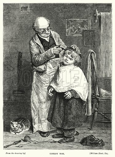 Untidy Tom. Illustration for The Infant's Magazine (1878).