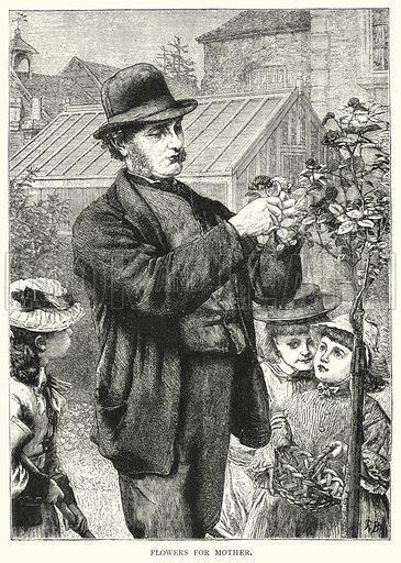 Flowers for Mother. Illustration for The Infant's Magazine (1879).