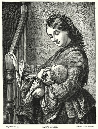 Baby's Asleep. Illustration for The Infant's Magazine (1879).