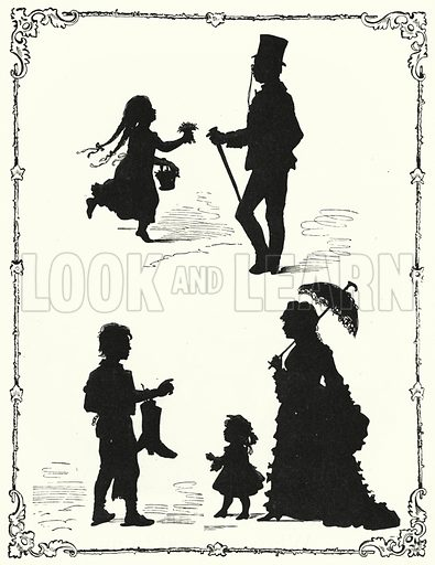 Silhouettes. Illustration for The Infant's Magazine (1879).