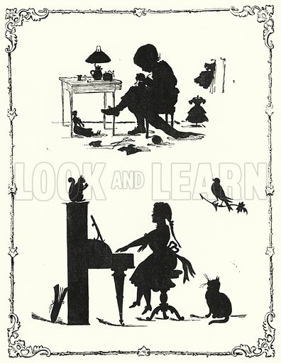 Silhouette. Illustration for The Infant's Magazine (1879).