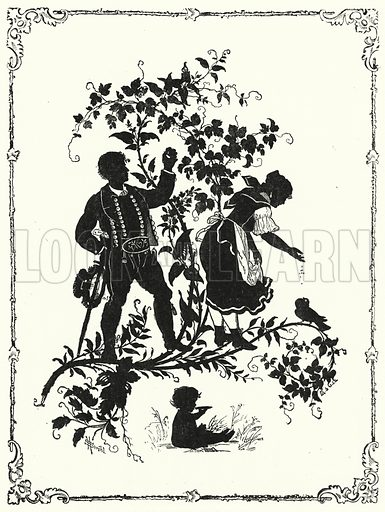 Silhouette. Illustration for The Infant's Magazine (1879).