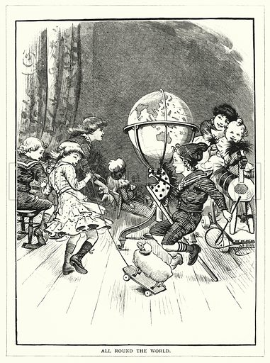 All Round the World. Illustration for The Infant