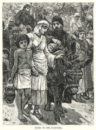 Going to the Passover. Illustration for The Infant's Magazine (1884).