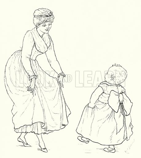 Baby's Dance. Illustration for The Infant's Magazine (1884).