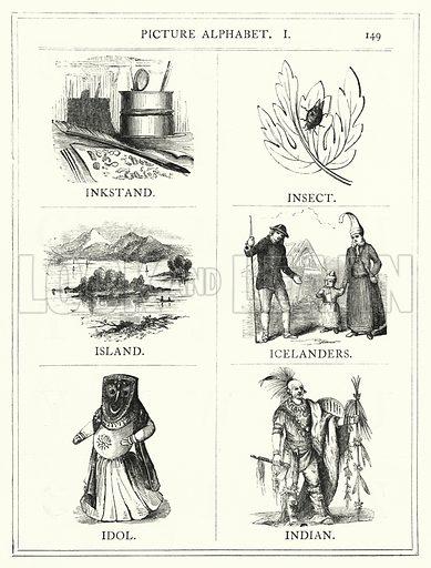 Picture Alphabet, I. Illustration for The Infant's Magazine (1886).