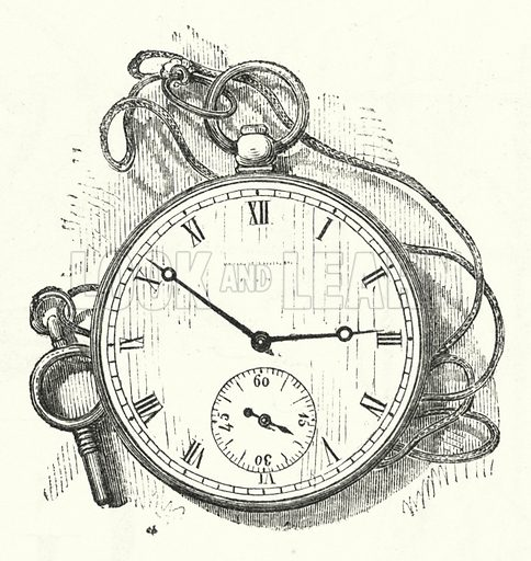 Watch. Illustration for The Infant's Magazine (1886).