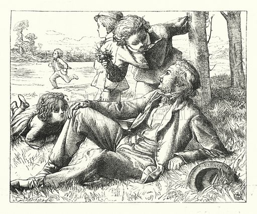 A Ramble in the Fields. Illustration for The Infant's Magazine (1886).