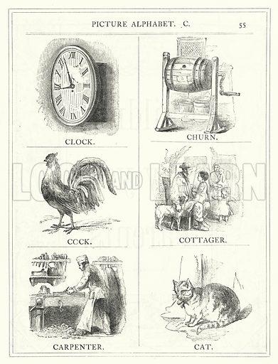 Picture Alphabet, C. Illustration for The Infant's Magazine (1886).