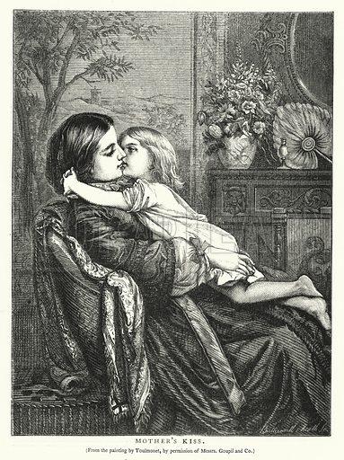Mother's Kiss. Illustration for The Infant's Magazine (1886).