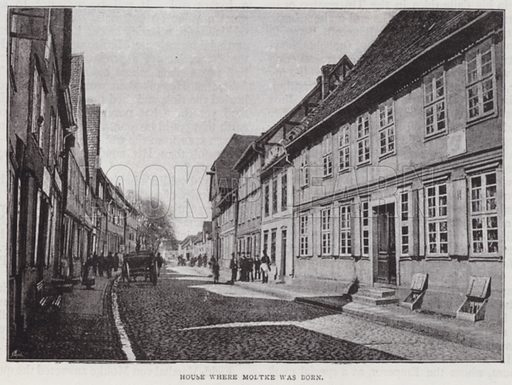 House where Moltke was Born. Illustration for The Leisure Hour (1891).