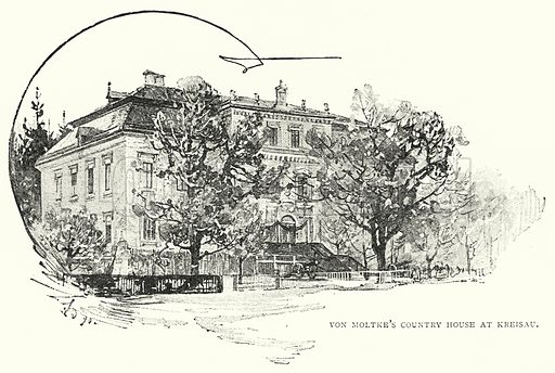 Von Moltke's Country House at Kreisau. Illustration for The Leisure Hour (1891).