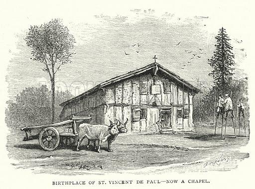 Birthplace of St Vincent de Paul, now a Chapel. Illustration for The Leisure Hour (1891).