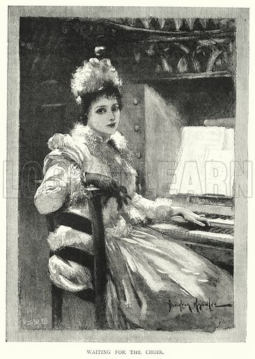 Waiting for the Choir. Illustration for The Leisure Hour (1891).
