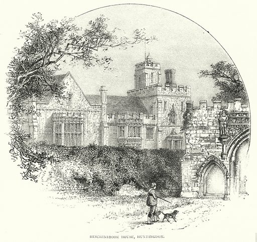 Hinchinbrook House, Huntingdon. Illustration for The Leisure Hour (1891).