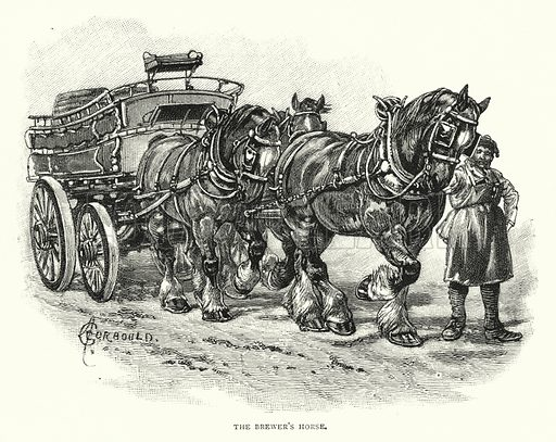 The Brewer's Horse. Illustration for The Leisure Hour (1892).
