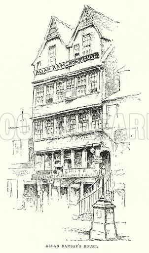 Allan Ramsay's House. Illustration for The Leisure Hour (1892).