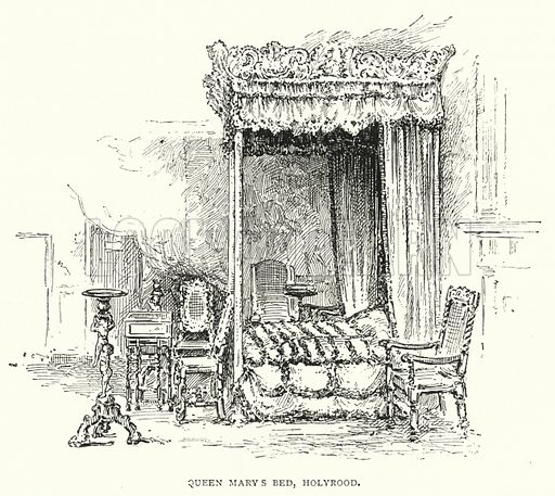 Queen Mary's Bed, Holyrood. Illustration for The Leisure Hour (1892).