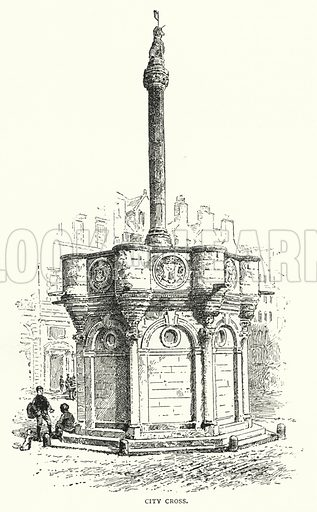 City Cross. Illustration for The Leisure Hour (1892).