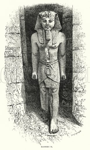 Rameses II. Illustration for The Leisure Hour (1892).