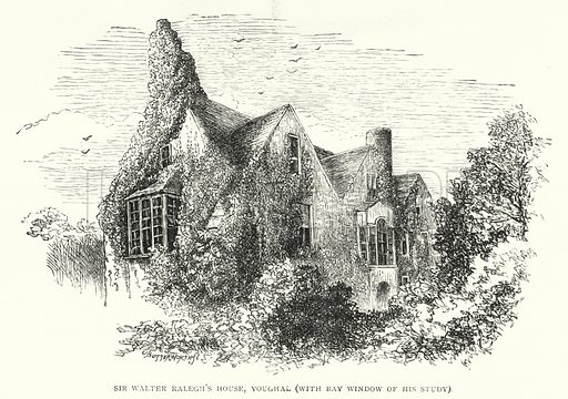 Sir Walter Ralegh's House, Youghal, with Bay Window of His Study. Illustration for The Leisure Hour (1893).
