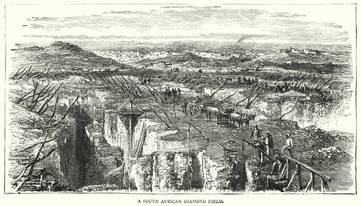 A South African Diamond Field. Illustration for The Leisure Hour (1893).