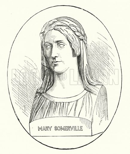 Mary Somerville. Illustration for The Leisure Hour (1893).