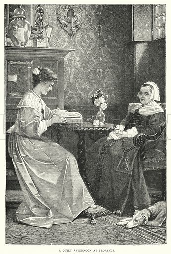 A Quiet Afternoon at Florence. Illustration for The Leisure Hour (1893).