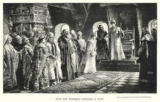 Ivan the Terrible Choosing a Wife. Illustration for The Leisure Hour (1894).