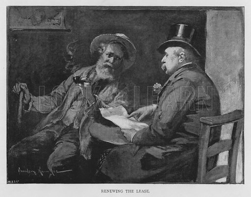 Renewing the Lease. Illustration for The Leisure Hour (1894).