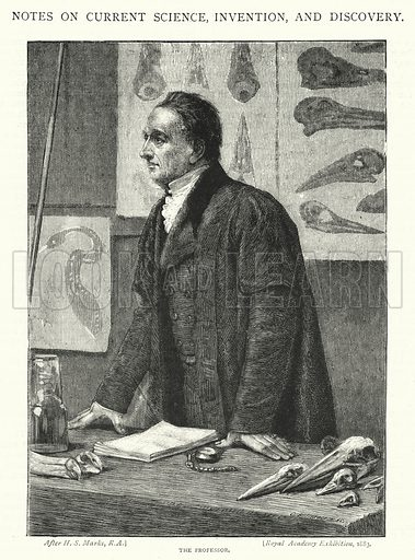 The Professor. Illustration for The Leisure Hour (1894).