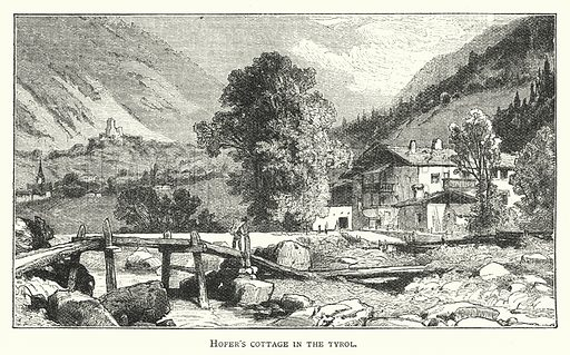 Hofer's Cottage in the Tyrol. Illustration for The Leisure Hour (1894).