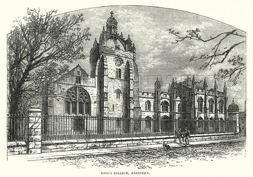 King's College, Aberdeen. Illustration for The Leisure Hour (1894).