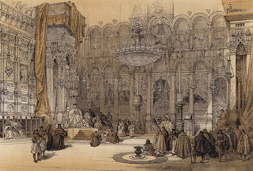 Greek Church of the Holy Sepulchre. Illustration for The Life of Christ by F W Farrar (Cassell, c 1880).