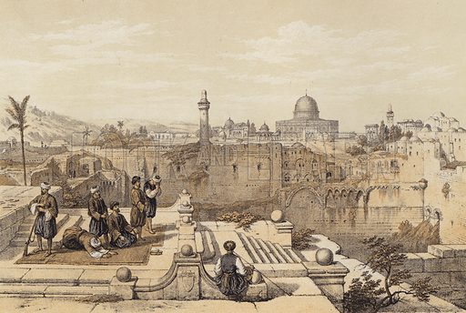 Mosque of Omar. Illustration for The Life of Christ by F W Farrar (Cassell, c 1880).