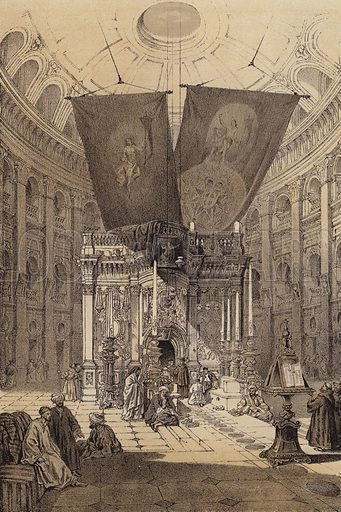 Shrine of the Holy Sepulchre. Illustration for The Life of Christ by F W Farrar (Cassell, c 1880).