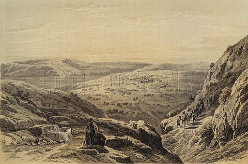 Cana, General View. Illustration for The Life of Christ by F W Farrar (Cassell, c 1880).